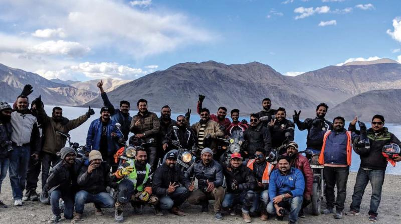 Members of Kochi-based PicSafari Riders Club