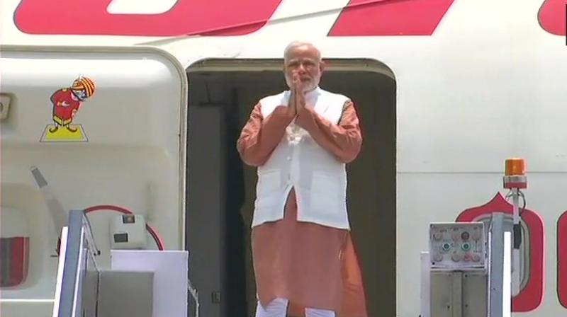 Prime Minister is scheduled to visit the India-Singapore enterprise and innovation exhibition. (Photo: ANI | Twitter)