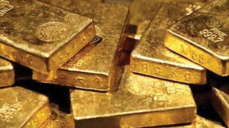 The trade war has roiled financial markets and spurred fears of a global economic slowdown, pushing the precious metal up 14 per cent this year.