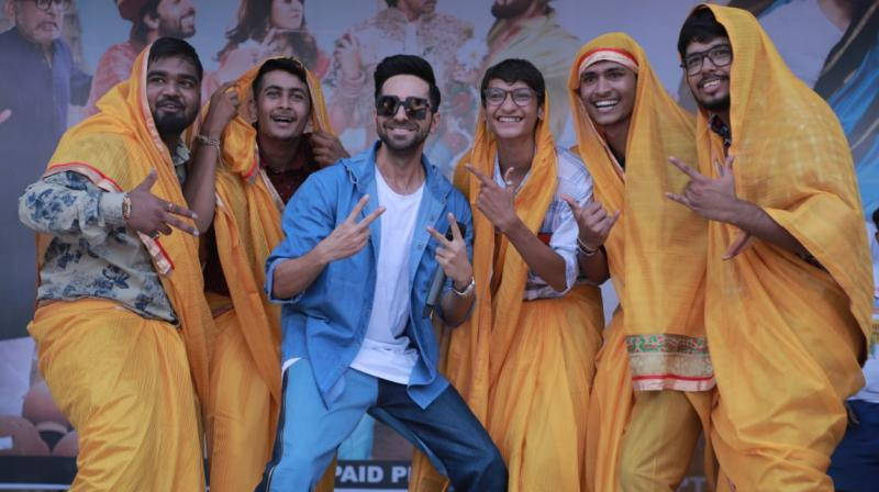 Ayushmann Khurrana celebrates Dream Girl.