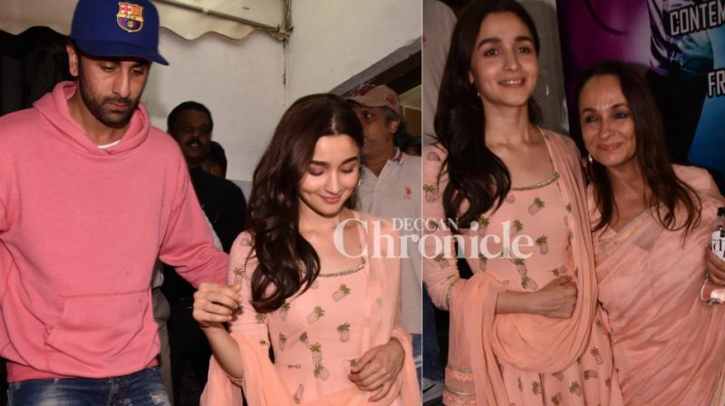 Shutterbugs spotted Bollywood celebrities at various locations in Mumbai on Sunday including the premiere of 'Raazi'. (Photo: Viral Bhayani)