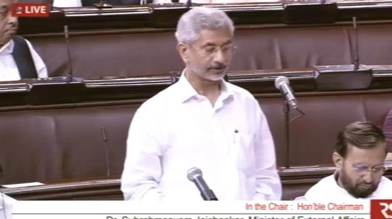 External Affairs Minister S Jaishankar on Thursday urged Islamabad to release and repatriate him immediately. (Photo: ANI | Twitter)