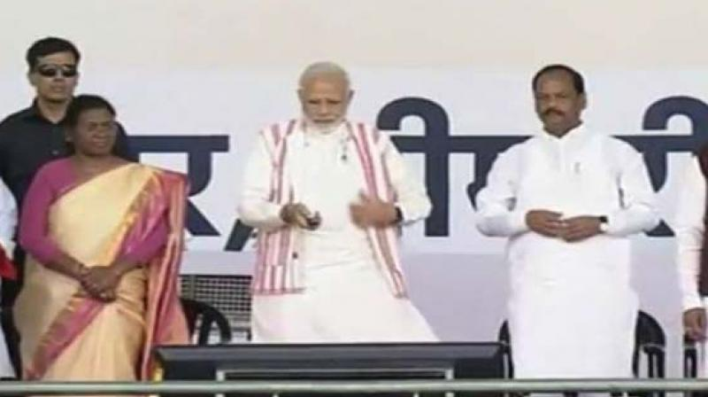 Prime Minister Modi launching health protection scheme PMJAY