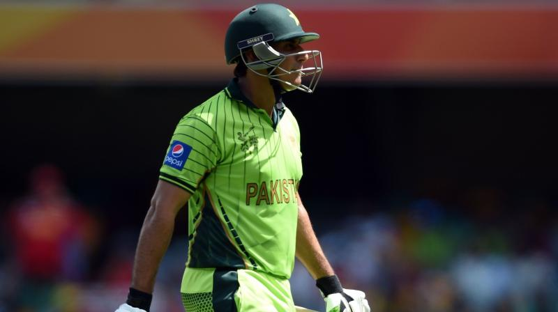 Banned former Pakistan batsman Nasir Jamshed has been charged in Britain with bribery offences as part of an investigation into spot-fixing in cricket, the National Crime Agency said on Thursday. (Photo: AFP)