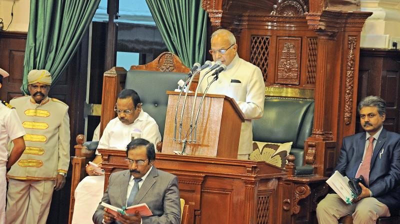 Governor Banwarilal Purohit addresses TN Assembly for the fitrst time on Monday.  (Photo: DC)
