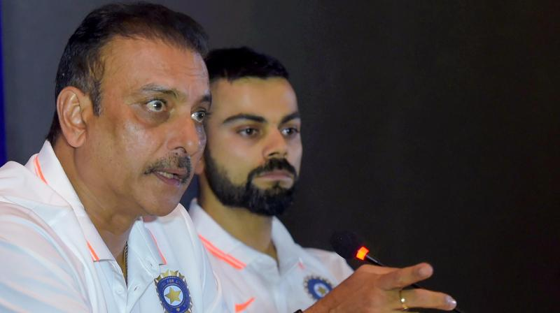The head coach underlined the need to grow mentally tougher in order to cross the finishing line and win Test series in overseas conditions, something Virat Kohli had stressed on after the loss at Southampton. (Photo: PTI)