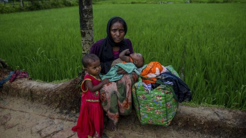 Rajnath Singh said that the Rohingyas are illegal immigrants. (Photo: AP)