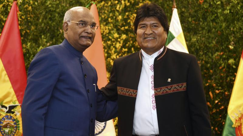 Kovind is on a three-day visit to Bolivia. (Photo:AP)