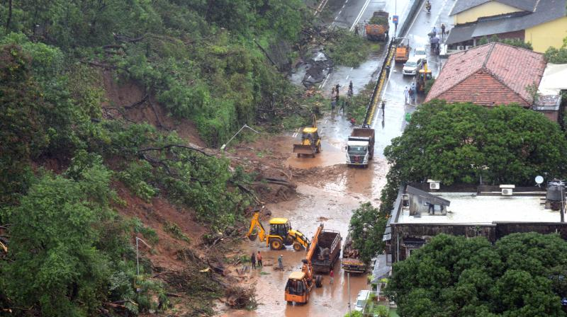 The situation in flood-affected Mumbai improved on Friday as the rain intensity reduced, with water receding in some flooded areas of the city.