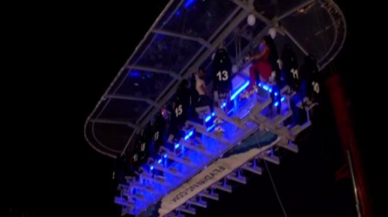 With safety measures in place, people can enjoy food 160 feet up in the air. (Photo: ANI)