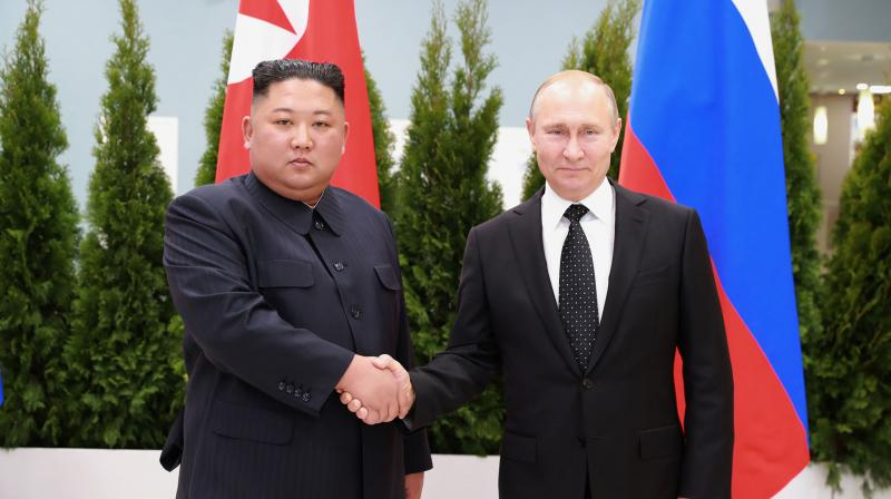 Kim said he hoped to usher in a new heyday in ties between Pyongyang and Moscow. (Photo:AP)