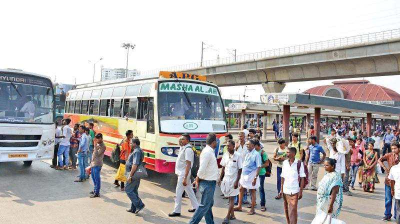 Striking woes: 70 per cent of Tamil Nadu govt buses stayoff roads