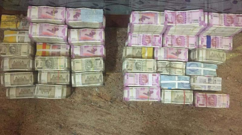 The entire amount seized was in higher denomination notes.