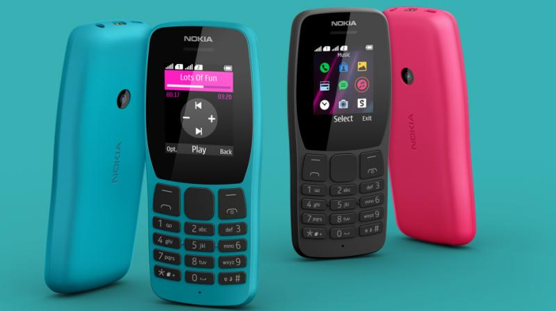 The Nokia 110 is powered by a removable battery with a music playback time of up to 27 hours.
