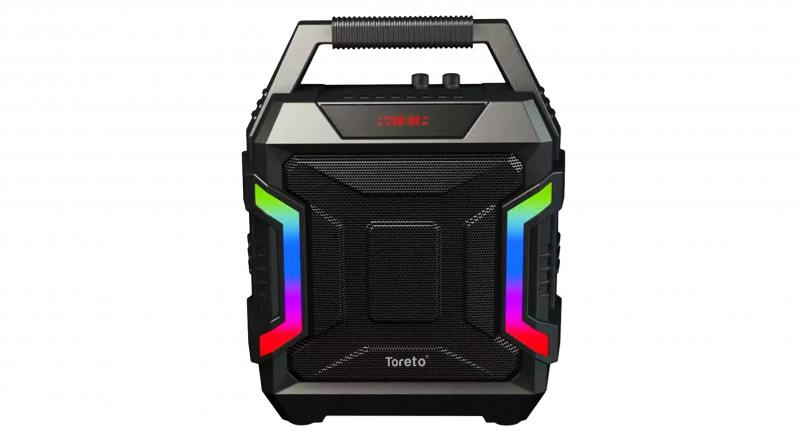 The Party 100 speakers (Pictured) have 20 Watts output along with 2,200 mAh battery power and can be carried around easily