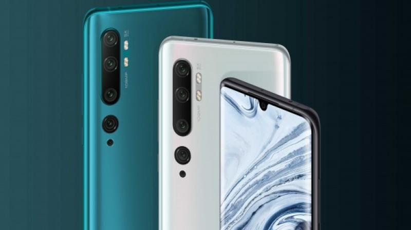 The Mi Note 10 features a 6.47-inch curved OLED screen and a 108MP penta-camera.