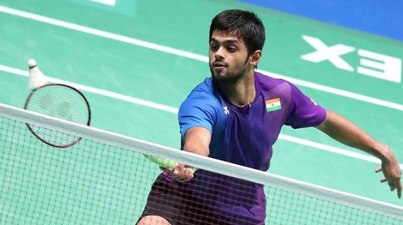 B Sai Praneeth was the lone Indian left in fray in the tournament after he entered the semifinals of the men's singles event on Friday. (Photo: PTI)
