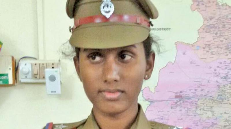 Prithika Yashini in her uniform