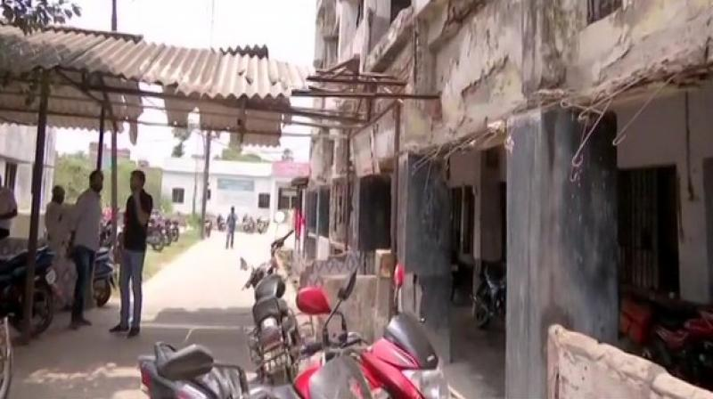 A foul smell emanating from the garbage dumped imprudently in the hospital premises also attracts animals and other insects to wander in the area. (Photo: ANI)