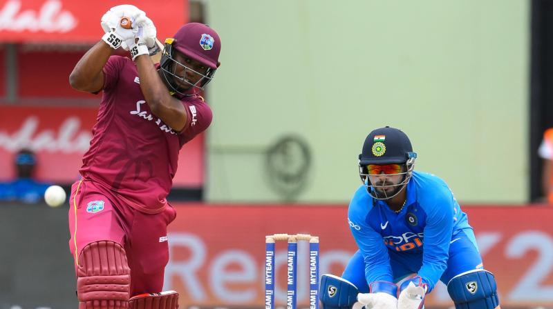 Opener Evin Lewis and Shai Hope were batting on 40 and 6 respectively when the match was called off after Indian captain Virat Kohli won the toss and asked the West Indies to bat. (Photo:AFP)