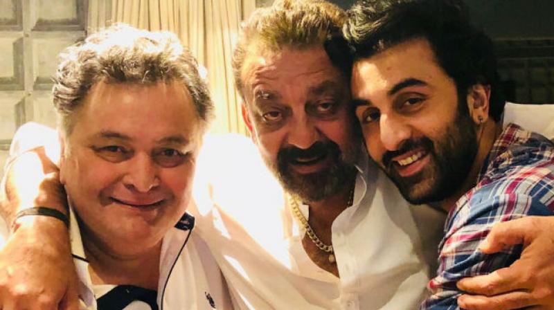 Rishi Kapoor, Sanjay Dutt and Ranbir Kapoor.