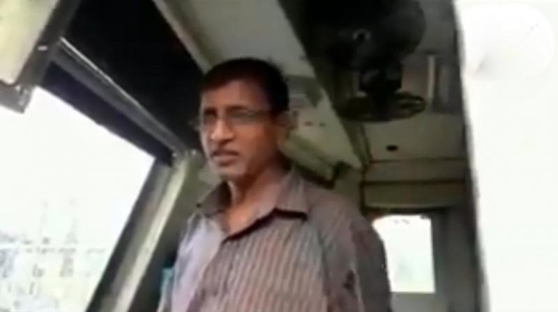 'I immediately applied emergency brakes when I saw the line snap. A major accident was averted as it was peak hour and a lot of people were around,' local train driver Chandrashekhar Sawant said. (Photo: Twitter | ANI)