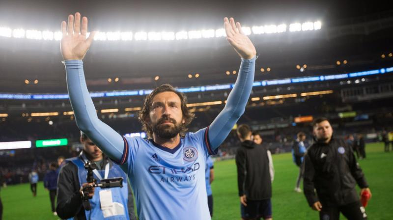 Andrea Pirlo suggested last month he would retire at the end of the season and leaves the game with two Champions League titles, six Serie A crowns,the 2006 World Cup he won with Italy. (Photo: Twitter/NYFC)