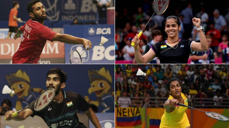 The clash between Saina Nehwal and PV Sindhu will be a mouthwatering one, whereas the game between Kidambi Srikanth and HS Prannoy will be a rematch of this years French Open Super Series. (Photo:PTI)