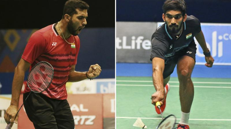 HS Prannoy aggresive game in the final proved too much for World No 2 and top seed Kidambi Srikanth. (Photo: Twitter/HS Prannoy)