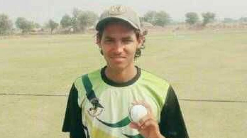 Akash Choudhary's 10 wicket haul helped Disha Academy bowl out Pearl Academy for just 36 runs. (Photo:Twitter)