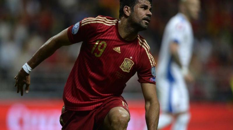 Diego Costa's tranfer has been put on hold after transfer ban by FIFA on Athletico Madrid. (Photo:AFP)