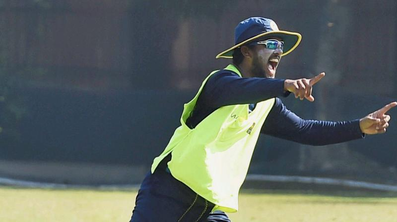 Dinesh Chandimal said that he has some plans in place to tackle Ravichandran Ashwin and Ravindra Jadeja but he will not disclose them. (Photo:PTI)