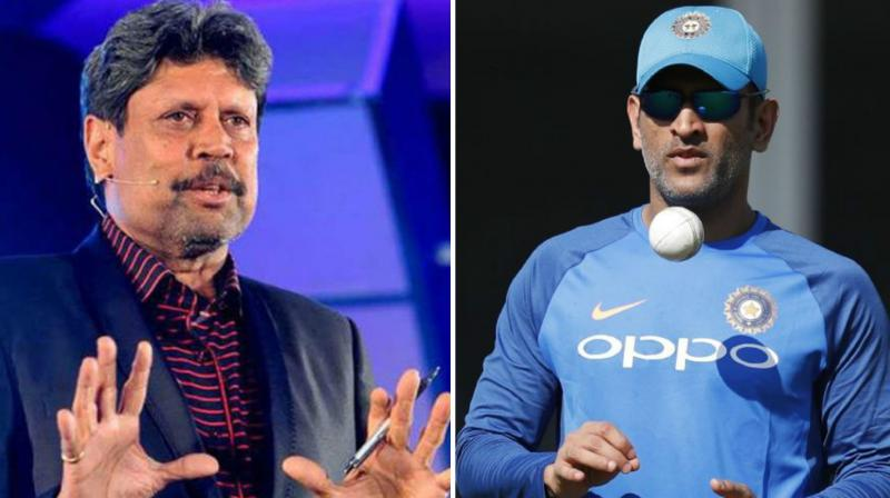 Kapil Dev came out in support of former Team India skipper MS Dhoni who is under pressure from critics for his lackluster performance. with bat. (Photo: PTI/AFP)
