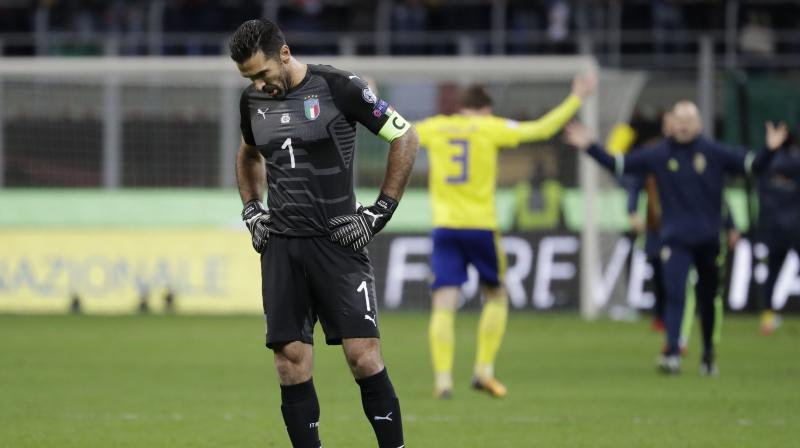 Buffon made his debut for the Azzurri as a 19-year-old in a 1998 World Cup play-off victory over Russia, but his last match saw him fail in his bid to become the first man to play in six World Cups. (Photo:AP)