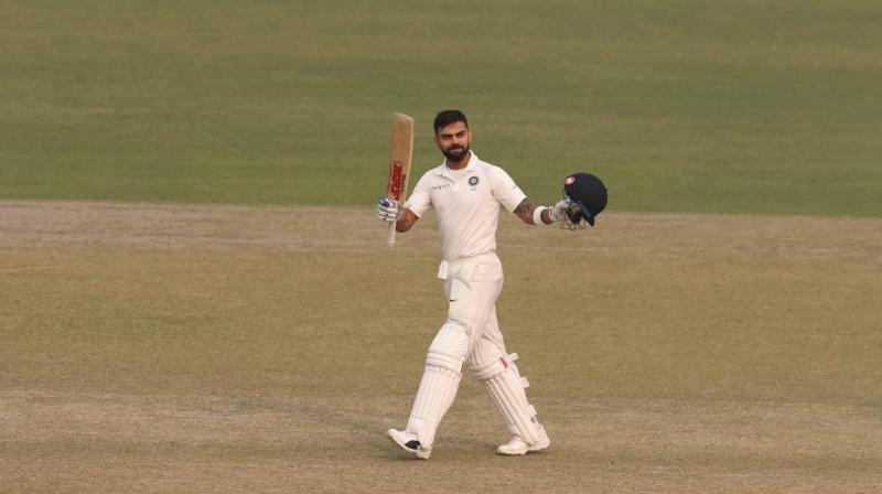 Virat Kohli completed his 20th test century, his first in front of home crowd .(Photo: BCCI)