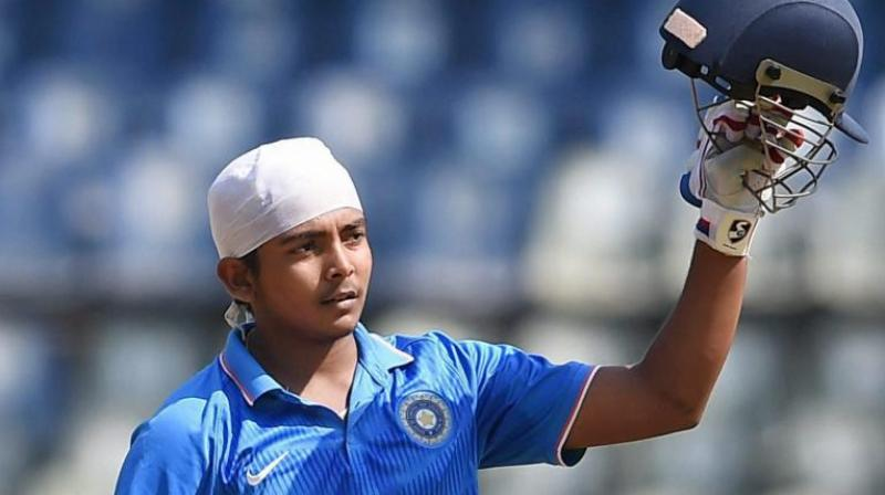 Prithvi Shaw to captain India in 2018 U-19 Cricket World Cup
