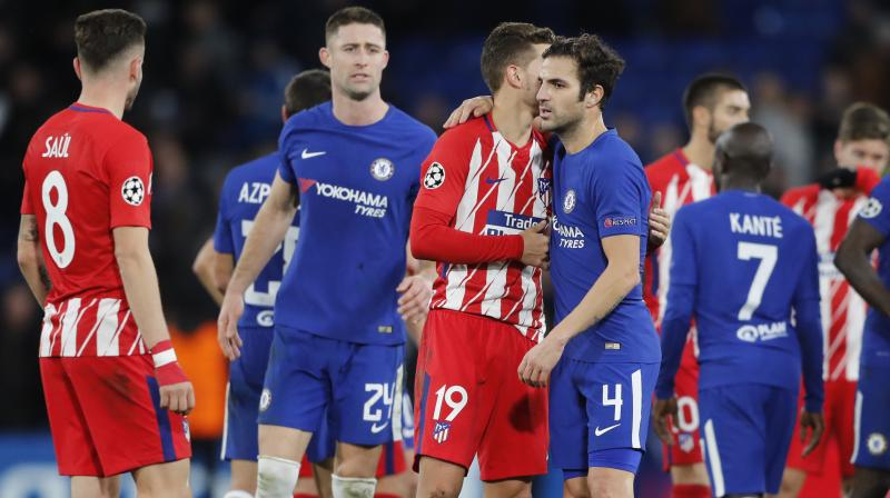 Chelsea  had to come from behind to draw 1-1 at Stanford Bridge against Atletico Madrid. (Photo:AP)