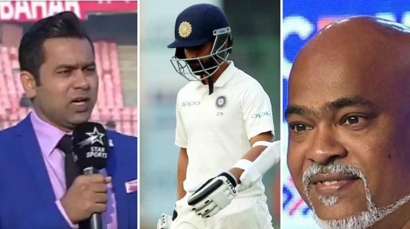 While Aakash Chopra hailed India's move of Rahane at No 3 to score runs, Vinod Kambli challenged Chopra's comment. (Photo:Twitter/PTI)