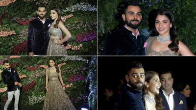 Virat Kohli and Anushka Sharma's reception was attended by the big names from the cricket world as well as Bollywood industry. (Photo:PTI)