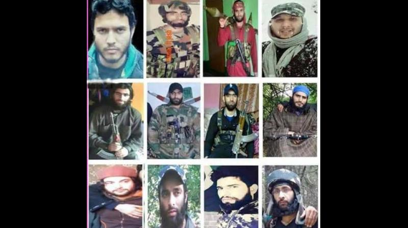 The listed militants are said to be locals recruited recently and predominantly operating in South Kashmir. (Photo: ANI)