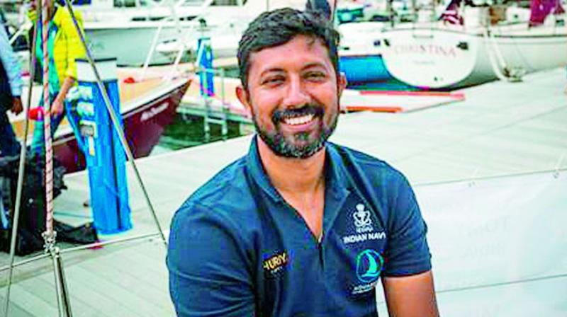 Abhilash Tomy has now been shifted to INHS Kalyani, the naval hospital of ENC, for observation and medical assistance as required. (Photo: File)