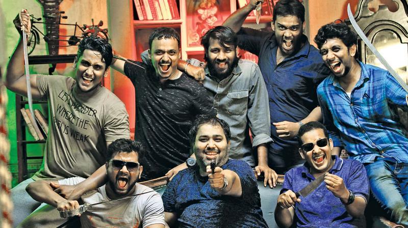 CV Kumar with team
