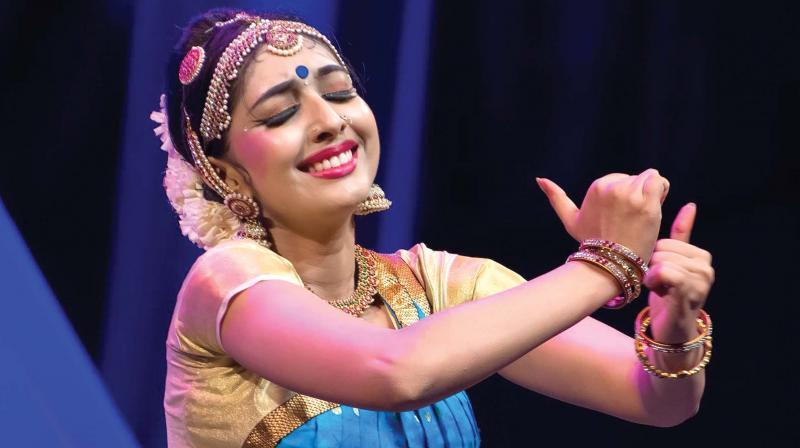 Utthara on stage
