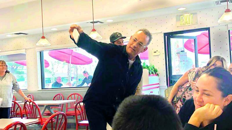 Tom Hanks Surprises Fans By Buying Them Lunch