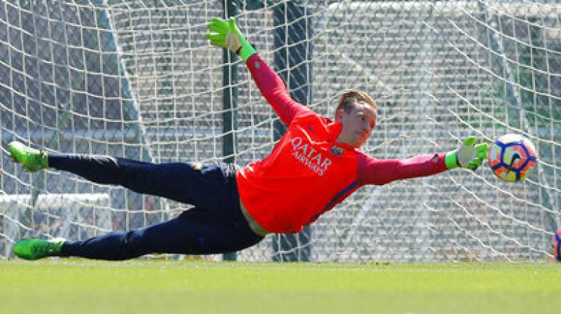 Marc- Andre Ter Stegen has won nine trophies in three seasons since joining from Borussia Moenchengladbach in 2014. (Photo: AP)