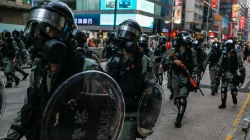 The clashes followed an especially violent day in Hong Kong's five months of anti-government demonstrations, in which police shot one protester and a man was set on fire. (Photo: AFP)