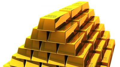 Gold was trading marginally higher by Rs 3 at Rs 39,375 per 10 gram.