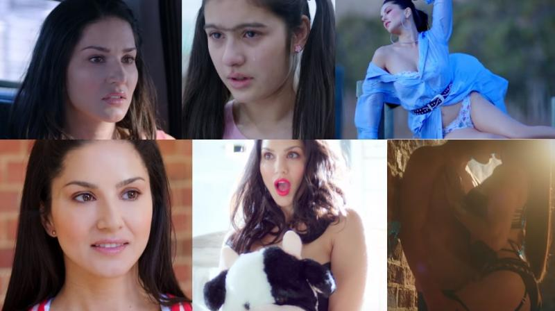 Screengrabs from trailer of 'Karenjit Kaur - The Untold Story Of Sunny Leone.'