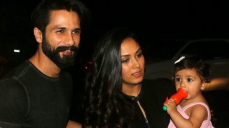 Shahid Kapoor and Mira Kapoor and Misha Kapoor.
