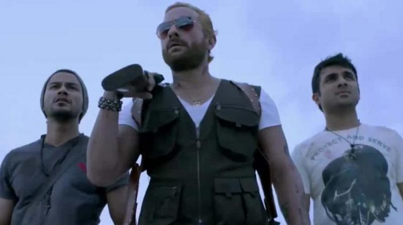 Kunal Kemmu, Saif Ali Khan and Vir Das.